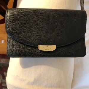 Kate Spade Black Leather Crossbody! NWOT!